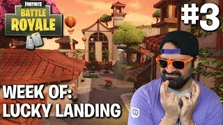 Fortnite Battle Royale | Week of Lucky Landing #3 | Ride Along ( Solo Tips and Tricks )