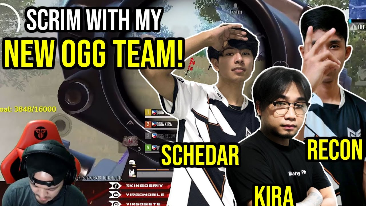 SCRIM WITH MY NEW OGG TEAM! | PUBG MOBILE (PHILIPPINES)