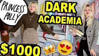 $1000 DARK ACADEMIA CLOTHING HAUL   TRYING DARK ACADEMIA OUTFITS FROM PRINCESS POLLY!!! 2021