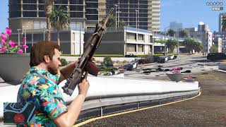GTA 5 - Five Star Escape + Del Perro Pier Fight With Madrazo Cartel Vol.4