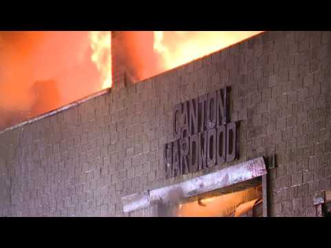 Canton Fire destroys business and causes power outages