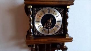Rare Warmink Bim Bam 8 Day Nut Wood Zaanse Wall Clock