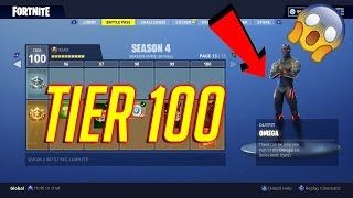 Fortnite Season 4 BattlePass! All Skins And Emotes! LEGENDARY ITEMS AND MORE!