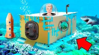 Подводная КАРТОННАЯ БАЗА Челлендж !