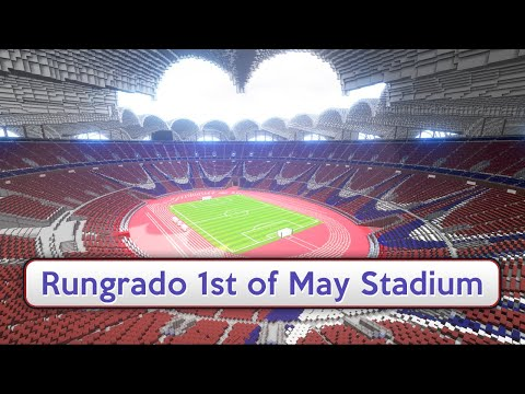 Minecraft - MEGABUILD - Rungrado 1st of May Stadium + DOWNLOAD [Official]