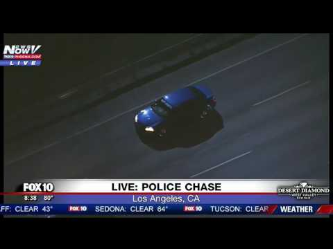 WATCH: Wild Police Chase Ends In Hollywood (FNN)