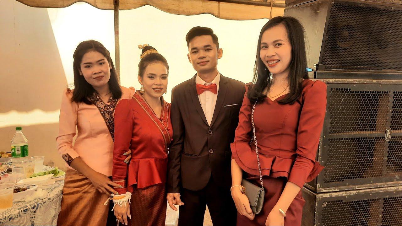 งานแต่งสาวลาว🇱🇦 บ่าวไทย🇹🇭ยากเป็นเขยลาวต้องเบิ่งคลิปนี้  wedding in savannakhet LAOS ງານແຕາງສາວລາວ