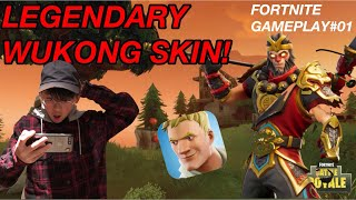 LEGENDARY WUKONG FORTNITE SKIN GAMEPLAY!!!|| Fortnite Battle Royale#01|| TAKING FAT L' s