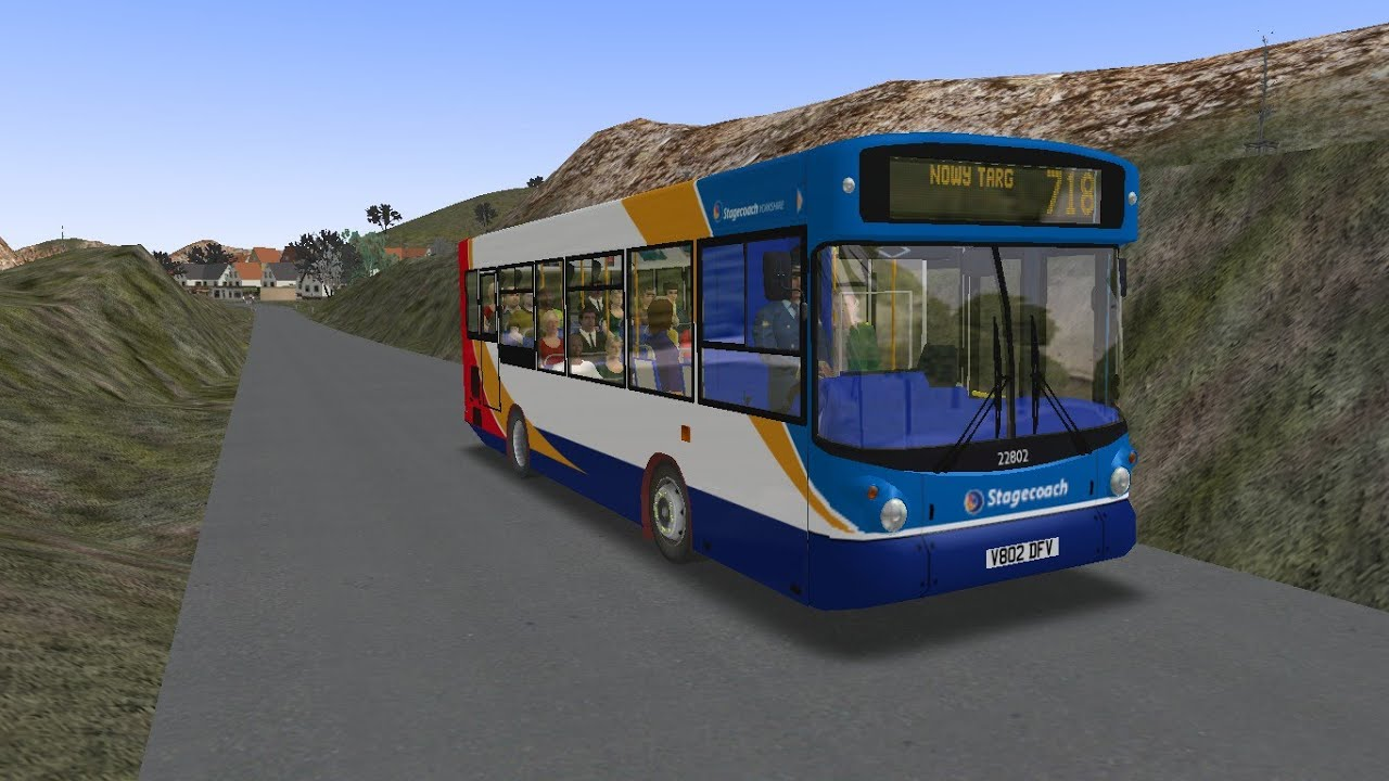 OMSI 2 Dennis ALX-200 Tatra-Regional Left-Path Route 718 (Review +Downloads)