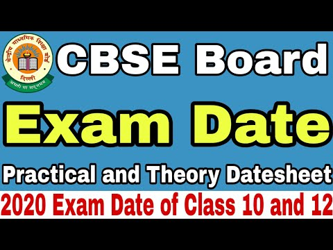 CBSE Board Exam Date 2020, Theory and Practical Exam Date | Study Channel