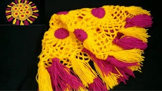 टिक्कीयों से बना खूबसूरत थालपोश/Crochet Thalposh#39#