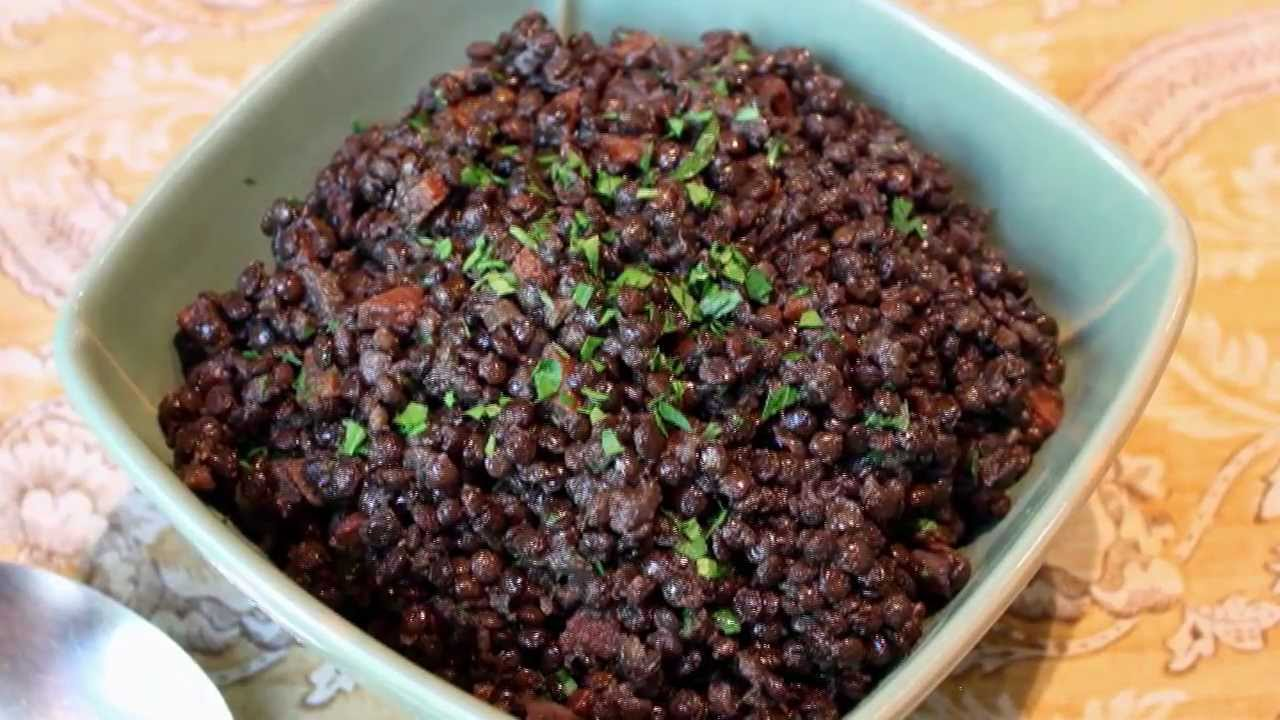 Braised Black Lentils Recipe How To Cook Beluga Lentils Youtube