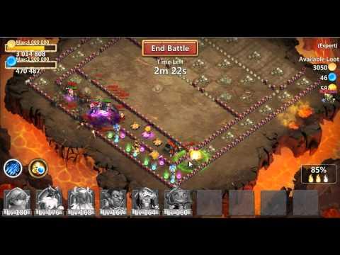 JCJWarrior - Castle Clash 57 Shard Expert Dungeon Farming With Gem Only Heroes