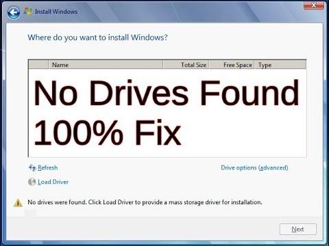 No Drives Found During Windows Installation