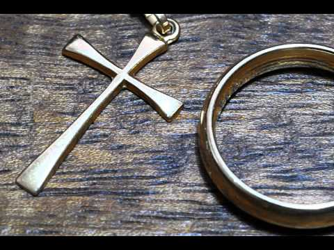 Gold Latin Cross And Gold Ring - Free Photos And Art