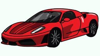 Si te vizatojme nje Ferrari 360 (hap pas hapi)  - How to Draw Ferrari 360 (step by step)