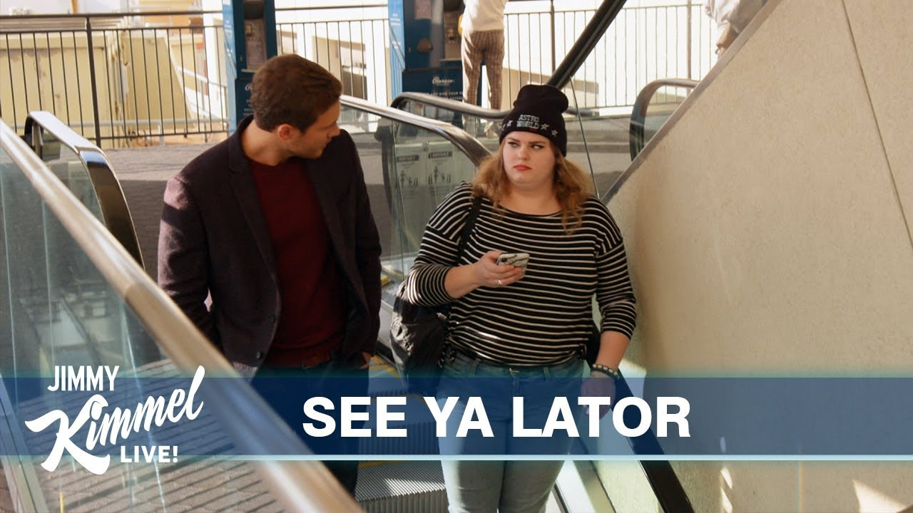 The Bachelor Peter Breaks Up with Strangers on an Escalator