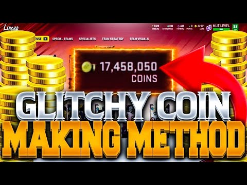NEW GLITCHY COIN MAKING METHOD IN MADDEN 20!!   MAKE 100K COINS IN A FEW MINUTES MADDEN 20!!
