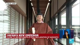 Japan's emperor Naruhito formally ascends to throne in centuries-old ceremony
