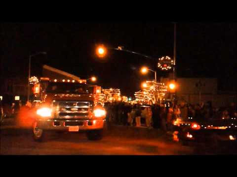 Bland County High School Band at Wytheville Christmas Parade 2011