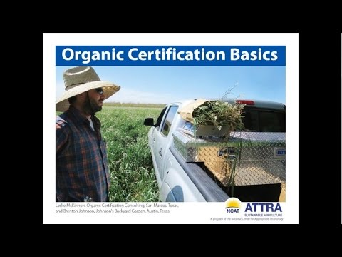 Organic Certification Basics