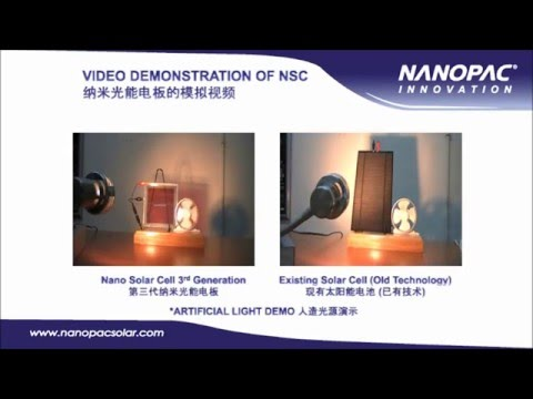 Demonstration Nano Solar Cell