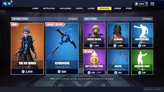 NEW ICE QUEEN SKIN - REAPER PICKAXE: Fortnite Item Shop