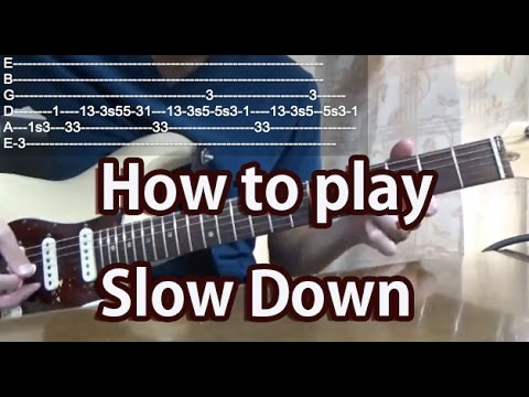 How to play Slow Down-The Beatles-Guitar Tutorial with tabs mp3