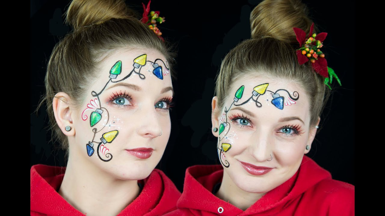 Christmas Lights Face Paint Tutorial Youtube