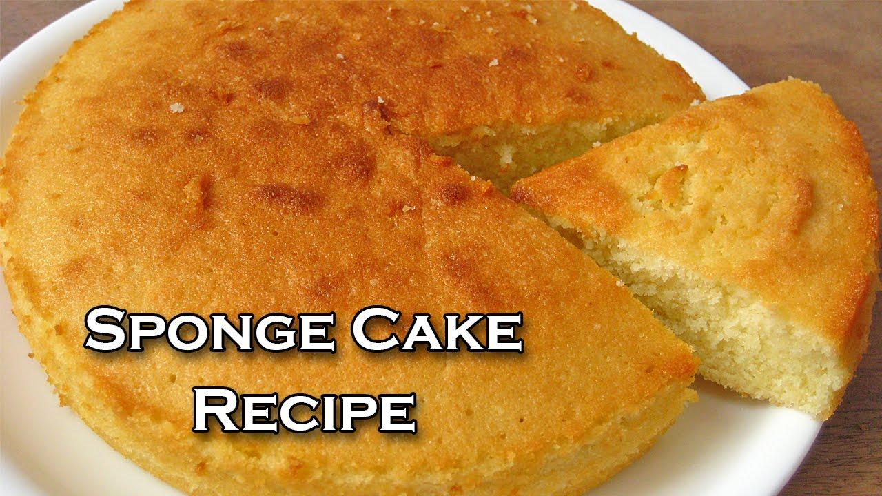 Basic Sponge Cake Recipe By Sameer Goyal Ekunji Com