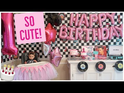 WE DID IT! 🎂 | CUTEST 1ST BIRTHDAY PARTY THEME EVER - 1950s ELVIS DINER DECORATIONS | PRESLEY'S BDAY
