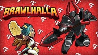Brawlhalla: One Punch Ted VS FranDaMan1, TyTyTheJedi Evil Black Knight, Mosh Pit! (Comedy Gaming)