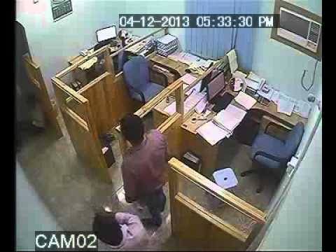 Sohar Beach Bakery Employee with very funny Clip In Office(Oman)