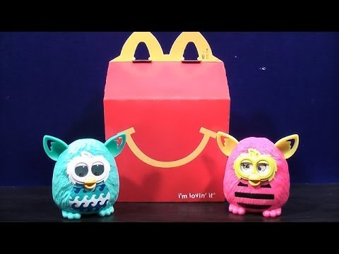2013 MCDONALDS HAPPY MEAL TOYS FURBY BOOM 5  6 TOY REVIEW  YouTube