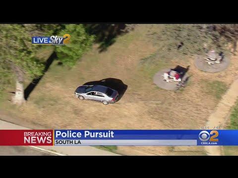 Assault Suspect Drives Through South LA Park