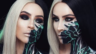 ELECTRIC CYBORG HALLOWEEN MAKEUP | DESI PERKINS