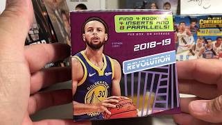 Opening a Hobby Box of 2018-19 Panini Revolution NBA Basketball Cards