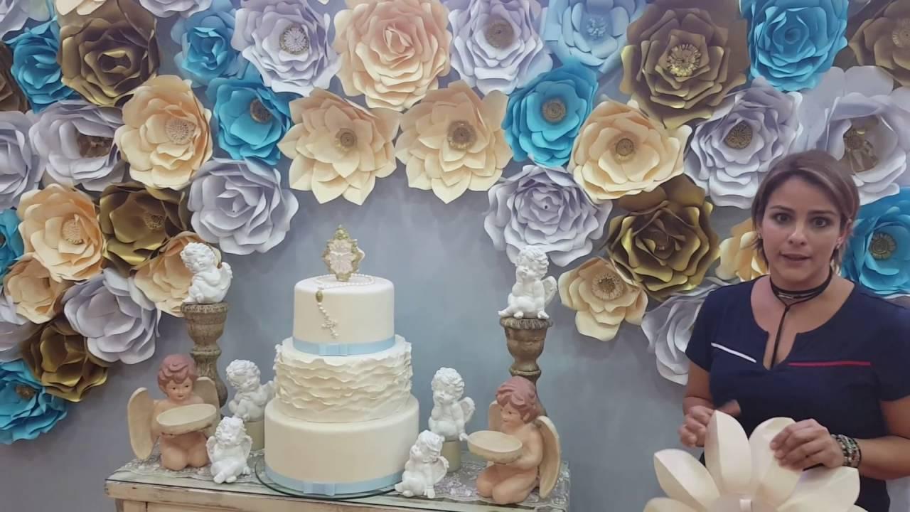 Panel de flores de papel decoracin eventos  YouTube