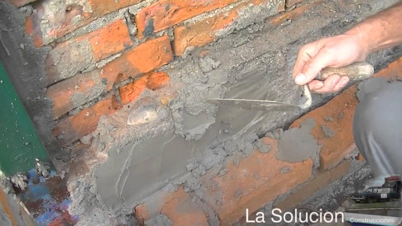 Levantar pared frente a muro lindero youtube - Pegamento de escayola para alisar paredes ...