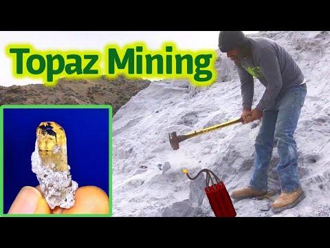 Amazing Topaz Crystals Found | Gem Mining in Utah | Topaz Mountain