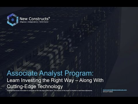 Associate Analyst Virtual Meeting With David Trainer