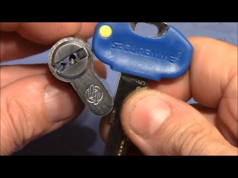 Взлом отмычками Securemme   (picking 428) Smooth and easy: SECUREMME 6 pin dimple lock