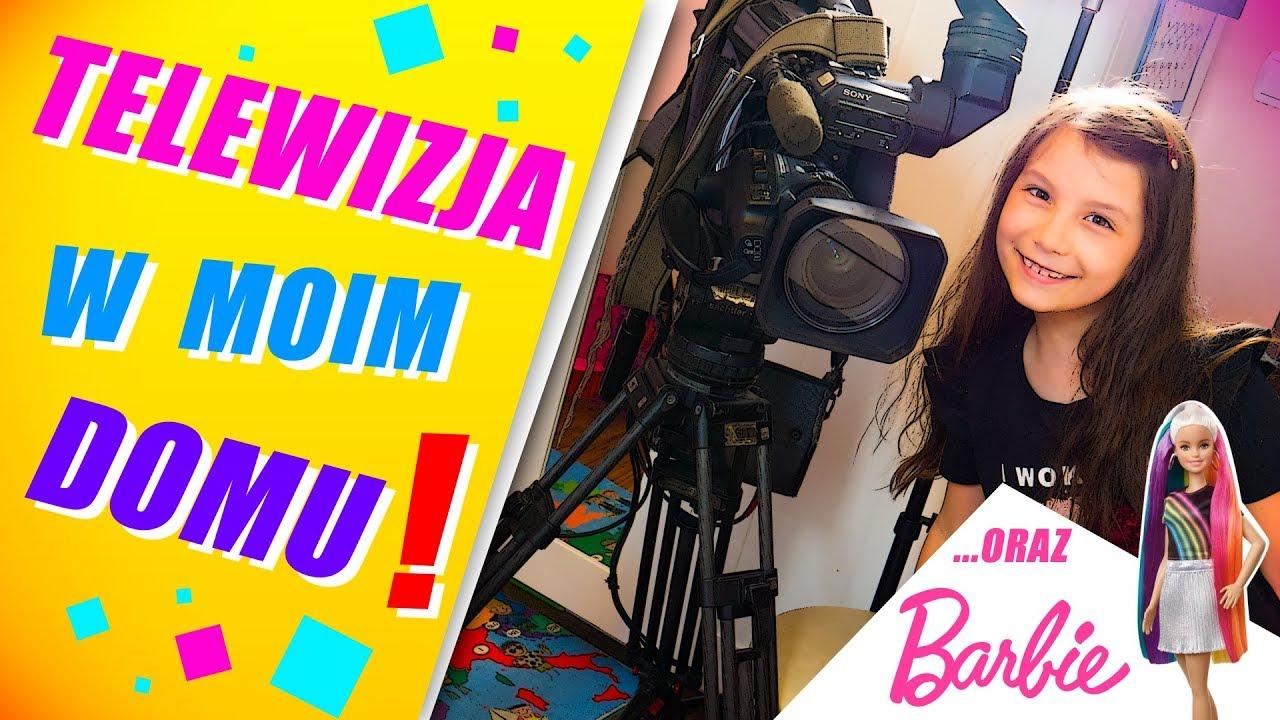 Telewizja w moim domu!!! #96 Stylizacja z Barbie tęczowe włosy Mattel - SARA