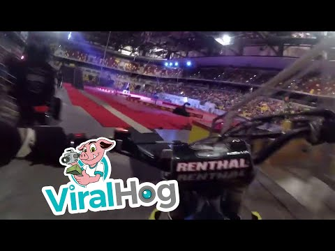 None - The Stadium Lights Go Out Mid Jump for Motorcross Rider