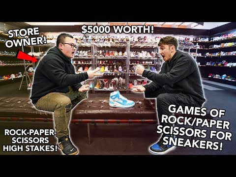 $5000 Games Of Rock/Paper/Scissors For Expensive Sneakers!