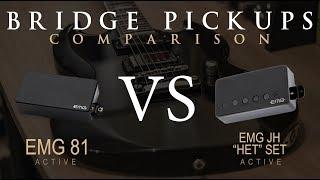 EMG 81 vs EMG JH HET SET - Active Bridge Pickup Guitar Tone Comparison / Review / Demo