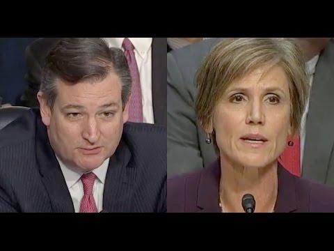 Ted Cruz Runs Away When Sally Yates DESTROYS Him on Muslim Ban
