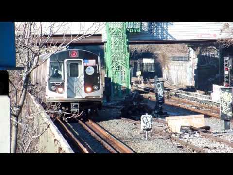 NYC Subway: (W) train action in Brooklyn