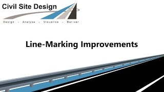 Civil Site Design - Line-marking Improvements v17.01