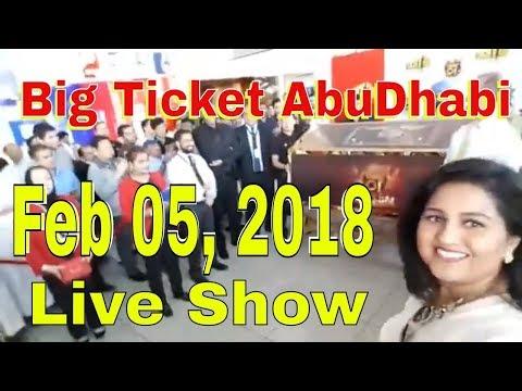 Abu Dhabi BIG TICKET Draw 05 FEB 2018 February 05 Big Ticket 188 big raffle tickets 2018 Insurance